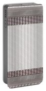 Crystal White And Gray Dots Design Pattern Shade Deco Decoration Portable Battery Charger