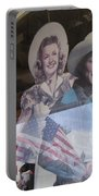 Dale Evans Roy Rogers Cardboard Cut-outs Flag Reflection Helldorado Days Tombstone 2004 Portable Battery Charger