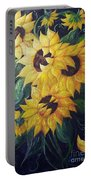 Dancing Sunflowers  Portable Battery Charger