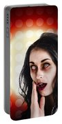 Dark Portrait Of A Zombie Girl In Shock Horror Portable Battery Charger