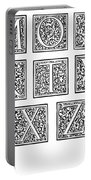 Decorative Initials, C1600 Portable Battery Charger