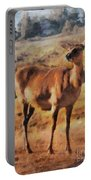 Deer On Mountain  Portable Battery Charger