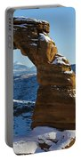 Delicate Arch With Snow Arches National Park Utah Portable Battery Charger