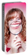Dentist Showing White Teeth In A Dental Checkup Portable Battery Charger