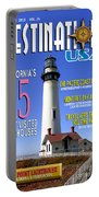 Destinations Usa Faux Magazine Cover Portable Battery Charger