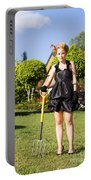 Do It Yourself Gardening Lady Portable Battery Charger