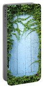 Door Framed By Plants Portable Battery Charger