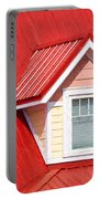 Dormer Window On Red Roof Portable Battery Charger