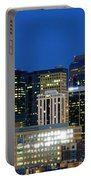 Downtown Denver At Dusk Portable Battery Charger