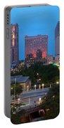 Downtown San Antonio Texas Skyline Portable Battery Charger