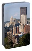 Downtown Skyline Of Pittsburgh Pennsylvania Portable Battery Charger