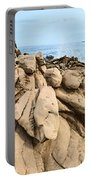Dramatic Lava Rock Formation Called The Dragon's Teeth In Maui. Portable Battery Charger