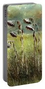 Dried Up Sunflower Patch Portable Battery Charger
