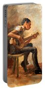 Eakins' Study For Negro Boy Dancing -- The Banjo Player Portable Battery Charger