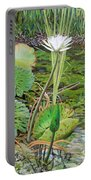 Emerald Lily Pond Portable Battery Charger
