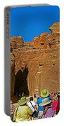 Entering Mile-long And 600 Foot High Gorge Leading To Treasury In Petra-jordan  Portable Battery Charger