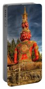 Faces Of Buddha Portable Battery Charger by Adrian Evans