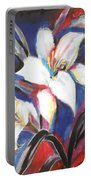 Fair Pure Fragile White Lilies Portable Battery Charger