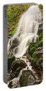 Fairy Falls In The Columbia River Gorge Area Of Oregon Portable Battery Charger