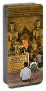 faithful Buddhists praying at Buddha Statues in SHWEDAGON PAGODA Portable Battery Charger