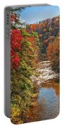 Fall Along The Linville River Portable Battery Charger