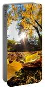 Fall Autumn Park. Falling Leaves Portable Battery Charger
