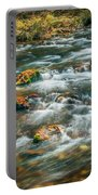 Fall Colors Stream Great Smoky Mountains Painted  Portable Battery Charger