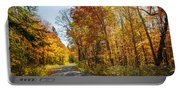 Fall Forest Road Portable Battery Charger