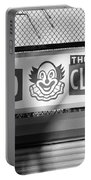 Feed The Clown In Black And White Portable Battery Charger