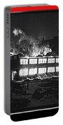 Film Homage Chris Marker La Jetee 1962 Winter Fire Collage Aberdeen South Dakota 1965-2013 Portable Battery Charger