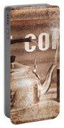 Fine Art Coffee Shop Tin Sign Insignia Portable Battery Charger