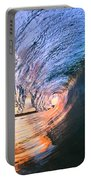 Fire And Ice Portable Battery Charger by Sean Davey