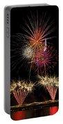 Fireworks  Portable Battery Charger by Saija  Lehtonen