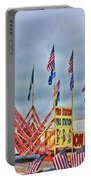 Fireworks Stand Portable Battery Charger by Cathy Anderson