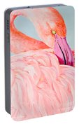Female Flamingo In The Bahamas Portable Battery Charger