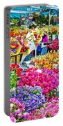 Flower Market In Taksim Square In Istanbul-turkey  Portable Battery Charger