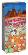 Flowers And Fields Alive With Thy Joy Portable Battery Charger