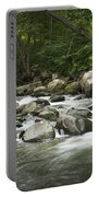 Flowing Stream In Vermont Portable Battery Charger