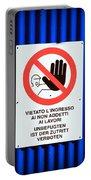 Forbidden Entrance Sign Portable Battery Charger