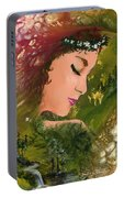 Forest Girl Portable Battery Charger