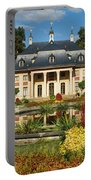 Formal Garden In Front Of A Castle Portable Battery Charger