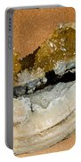 Fossil Clam With Calcite Crystals Portable Battery Charger