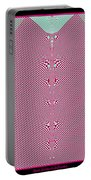 Fractal 28 Pink Gingham Shirt Portable Battery Charger
