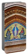 Fresco In Front Of Saint Anthony's Church In Istanbul-turkey  Portable Battery Charger