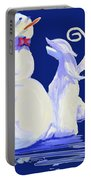 Frosty Blue Portable Battery Charger