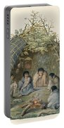 Fuegans In Their Hut, 18th Century Portable Battery Charger