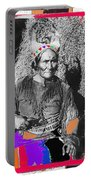 Geronimo With Pistol Ft. Sill Oklahoma Collage Circa 1910-2012 Portable Battery Charger