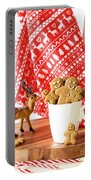 Gingerbread At Christmas Portable Battery Charger