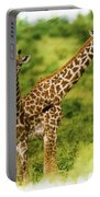 Mom Giraffe And Little Joey Portable Battery Charger