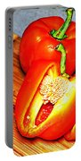 Glowing Peppers With Texture Portable Battery Charger